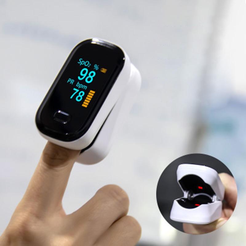 BOXYM oFit-2 Finger-Clamp Pulse Oximeter Blood Oxygen Heart De Oximeter Portable Pulse Oximetro Monitor