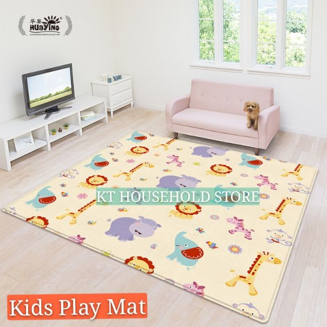 150 x 180cm 2 Side Kids Toddler Play Crawl Indoor Outdoor Crawling Educational Game Baby Play Mat Soft Foam Blanket Rug Carpet