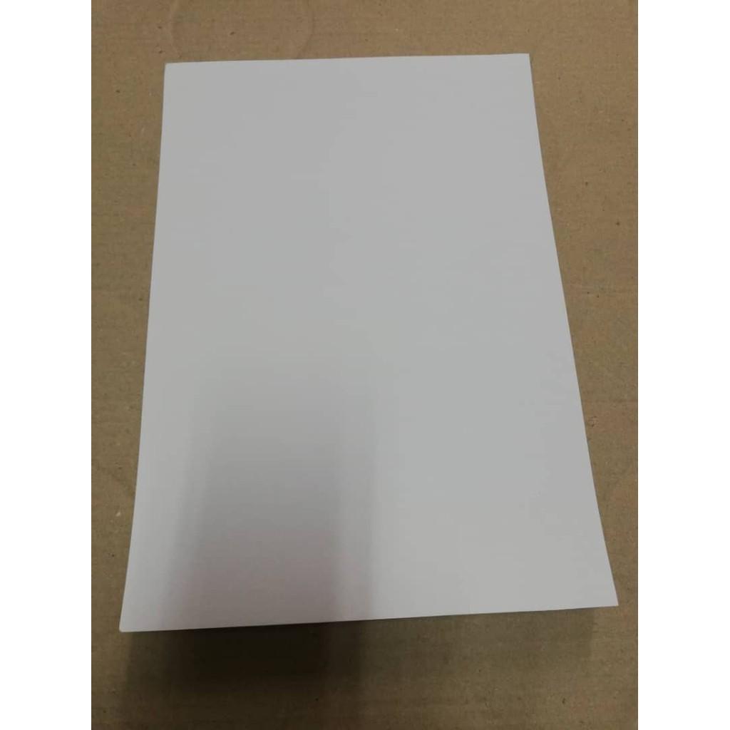 A4 Simili Sticker (Matt) White 100 sheets