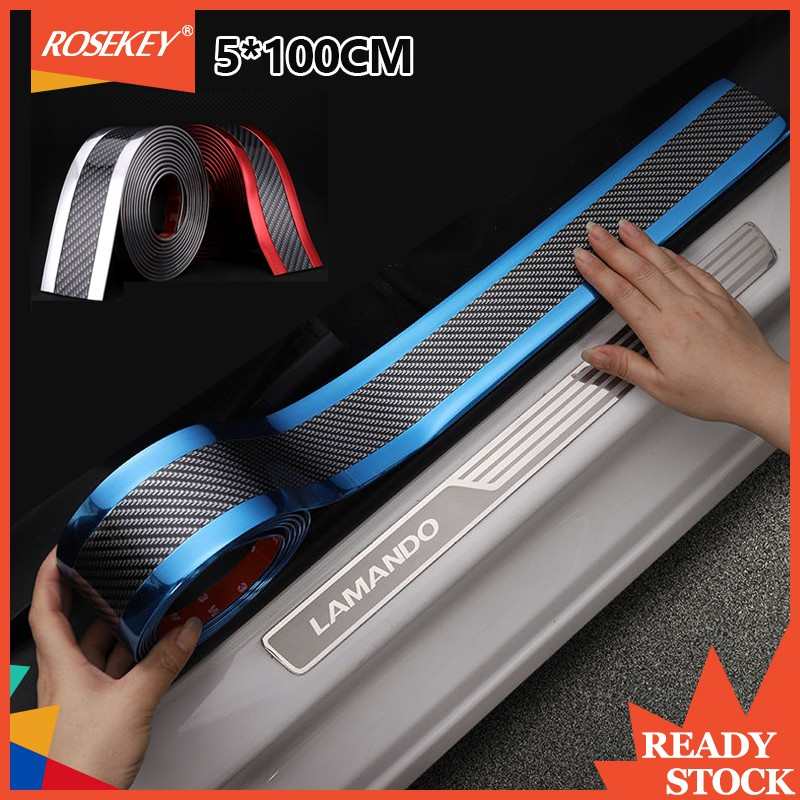 5CM*2meters Anti-collision Strip For SUVs Side Sill Carbon Fiber Blue Protector