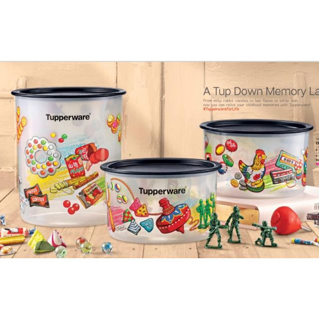 {ReadyStock} Tupperware Childhood Memories One Touch Set