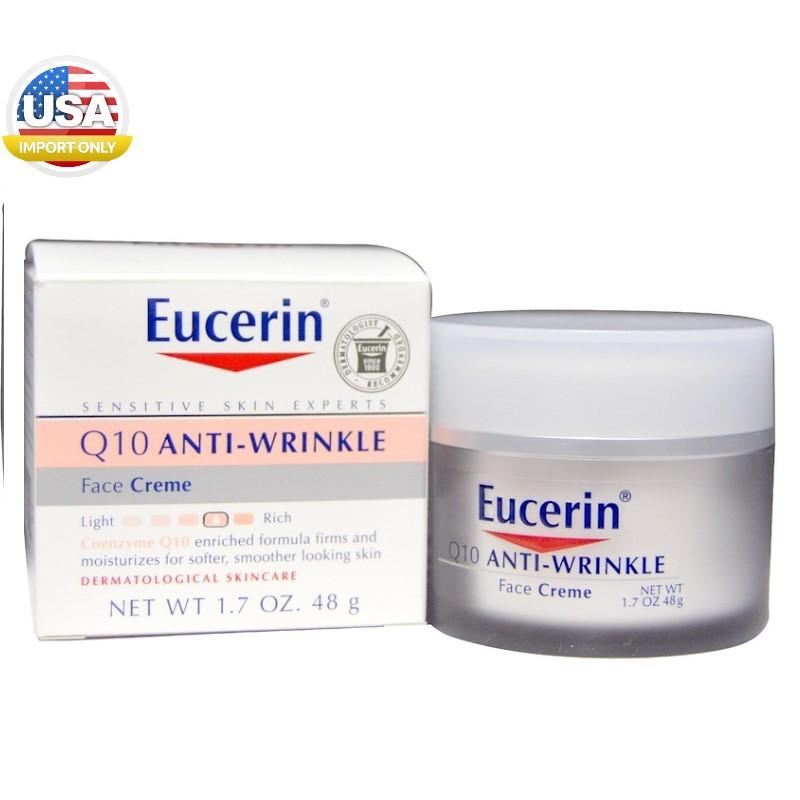 พร้อมส่ง_Eucerin, Q10 Anti-Wrinkle Face Creme, 1.7 oz (