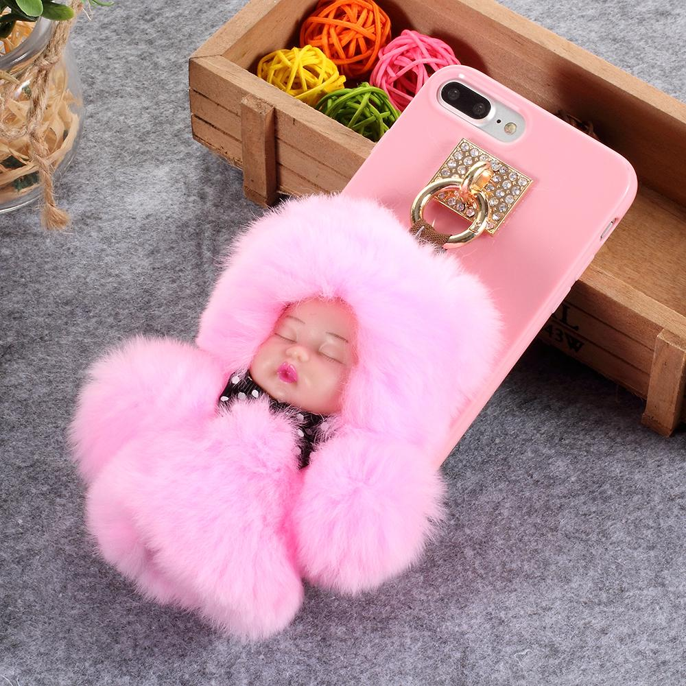 low priced 429d2 ded85 Lovely 3D Fluffy Plush Doll Soft TPU Mobile Case for iPhone 8 Plus ...