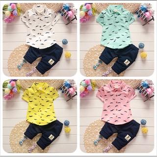 30c7424a058e3 Baby Clothes Summer Short Sleeve Shirt+Short Pants Kids Boys Outfits  Gentleman