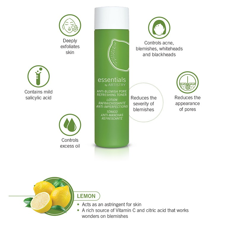 essentials by ARTISTRY Anti-Blemish Pore Refreshing Toner