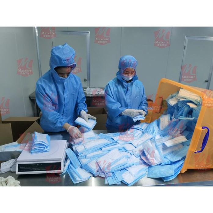 MALAYSIA : 50PCS FACE MASK / MASK MUKA ELAK VIRUS / MAXCARE 3 Ply Disposable Surgical Face Mask 50PCS