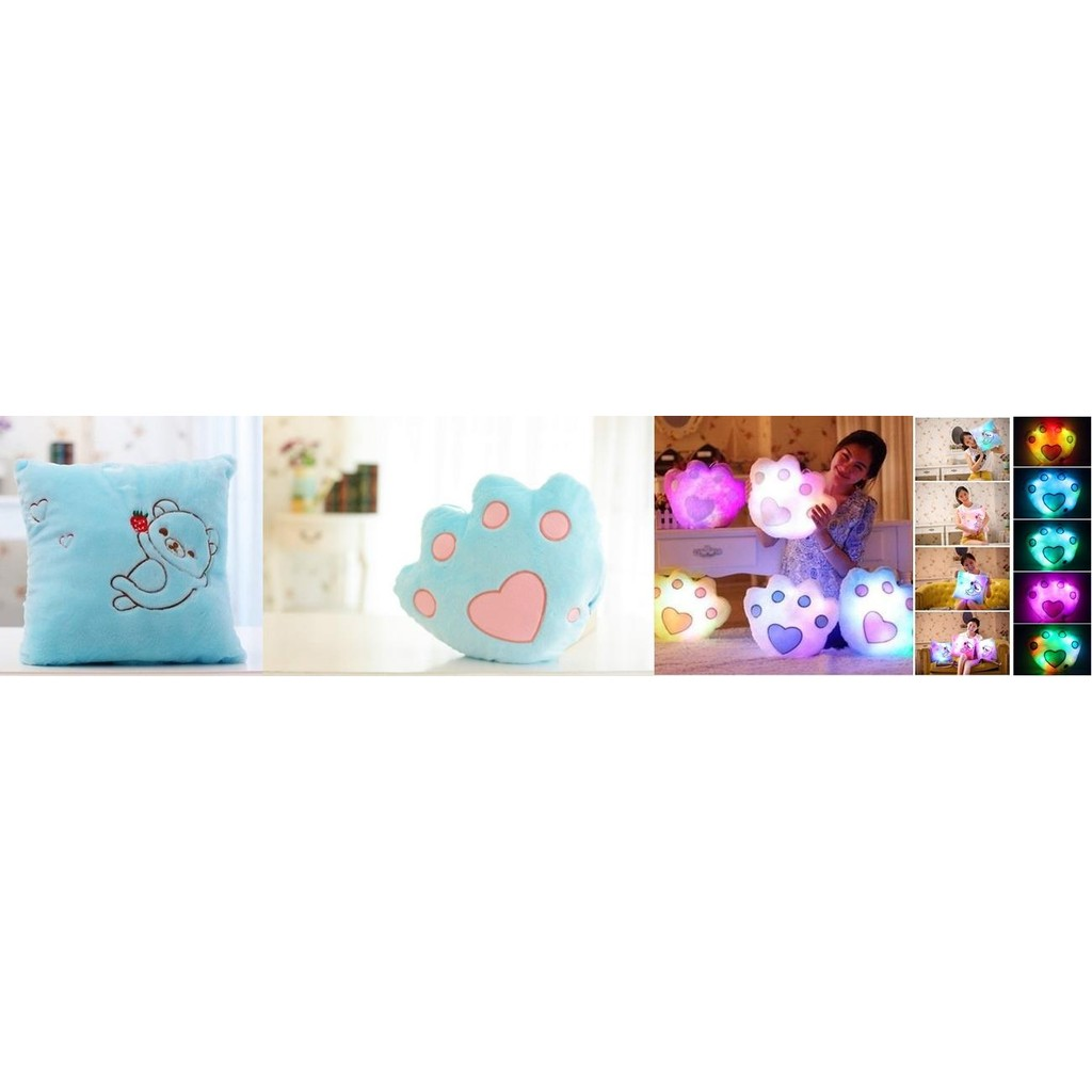 Led Pillow square shape-blue color