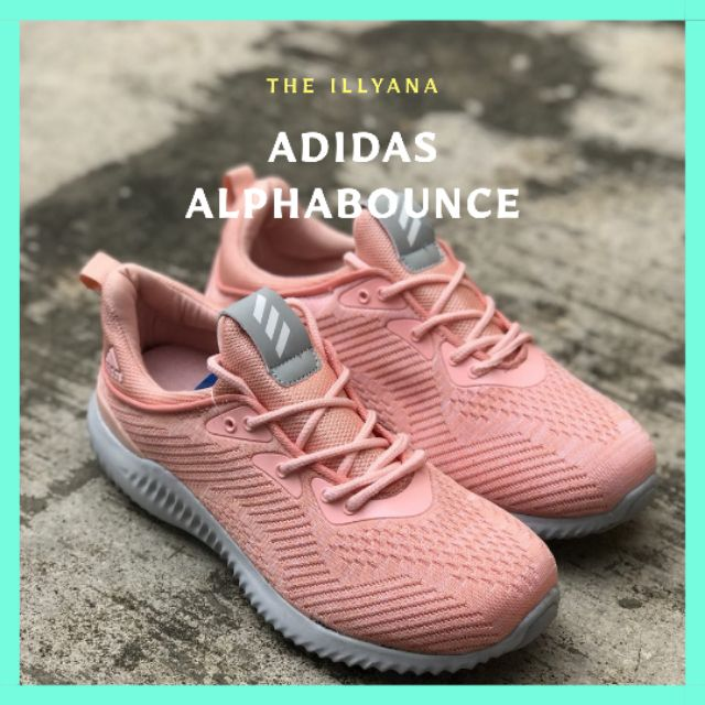 37d8bf800  READY STOCK  ADIDAS ALPHABOUNCE NUDE PINK