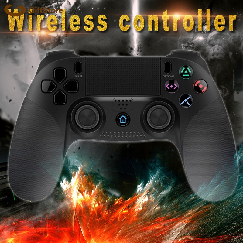 1 Pcs Gamepad Controller Wireless Bluetooth LED Lights Portable for PS4 PS3  PC