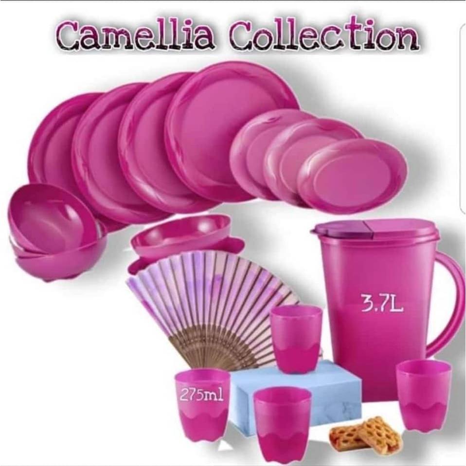 Tupperware Camellia Collection Dining Serveware Set/Dining Plates/ Bowls 700ml / Dessert Plates/ Pitcher/ Mugs