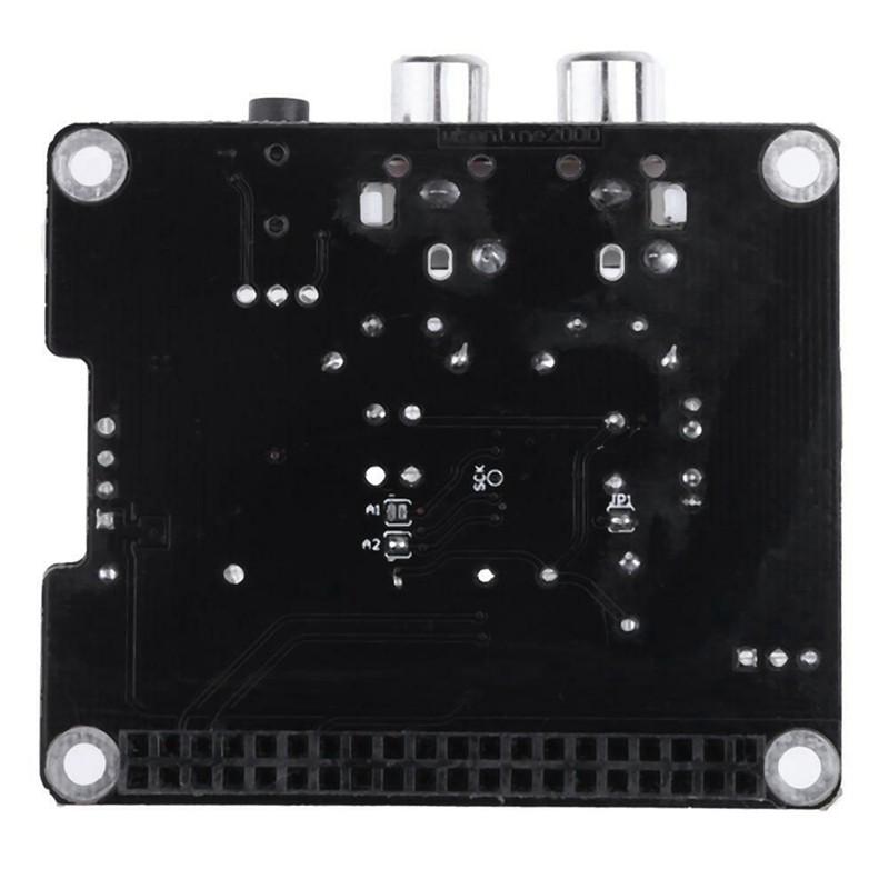 Black HIFI DAC Audio Sound Card Module I2S Interface For Raspberry Pi B Version