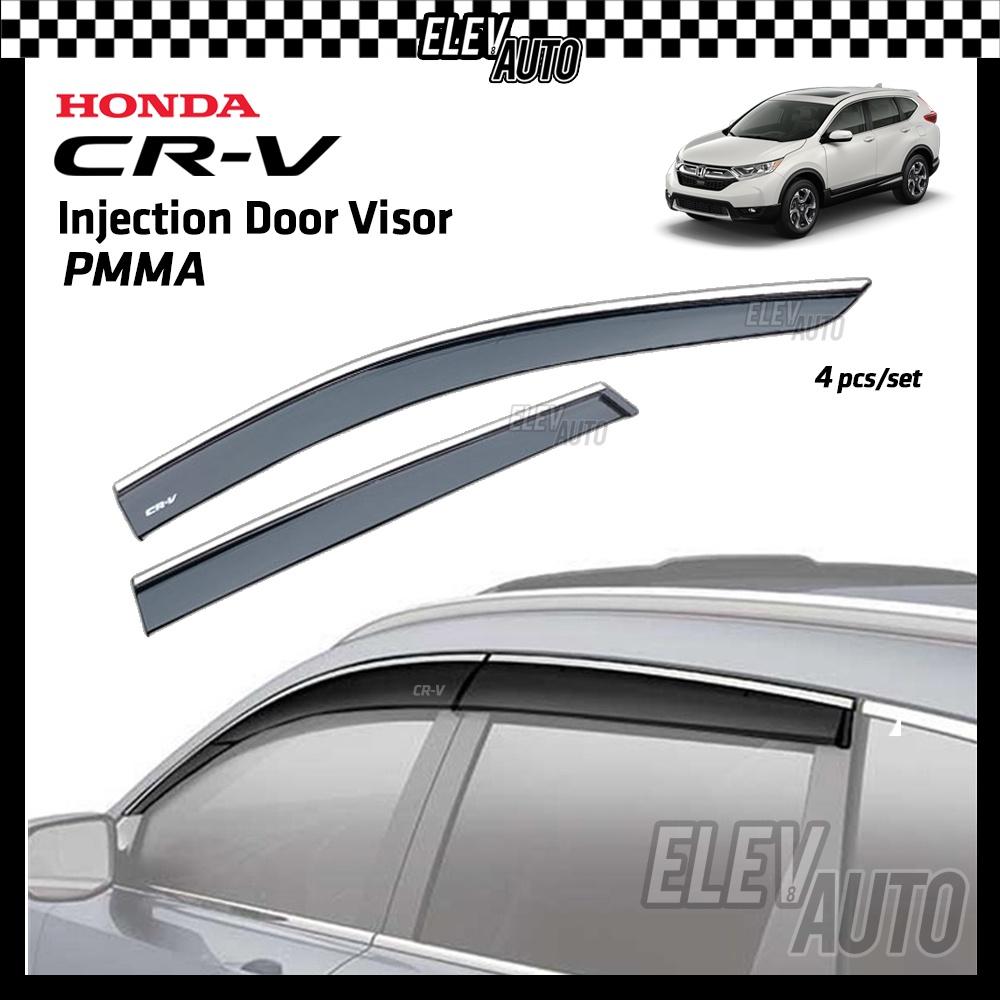 Honda CR-V 2017 - 2021 Premium Injection Door Visor Stainless Steel Lining Sun Rain Window Visor CRV G5 2018 2019 2020