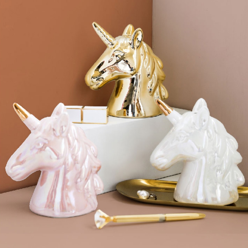 unicorn decor unicorn decoration porcelain unicorn Unicorn ornament ceramic unicorn room decoration piggy bank