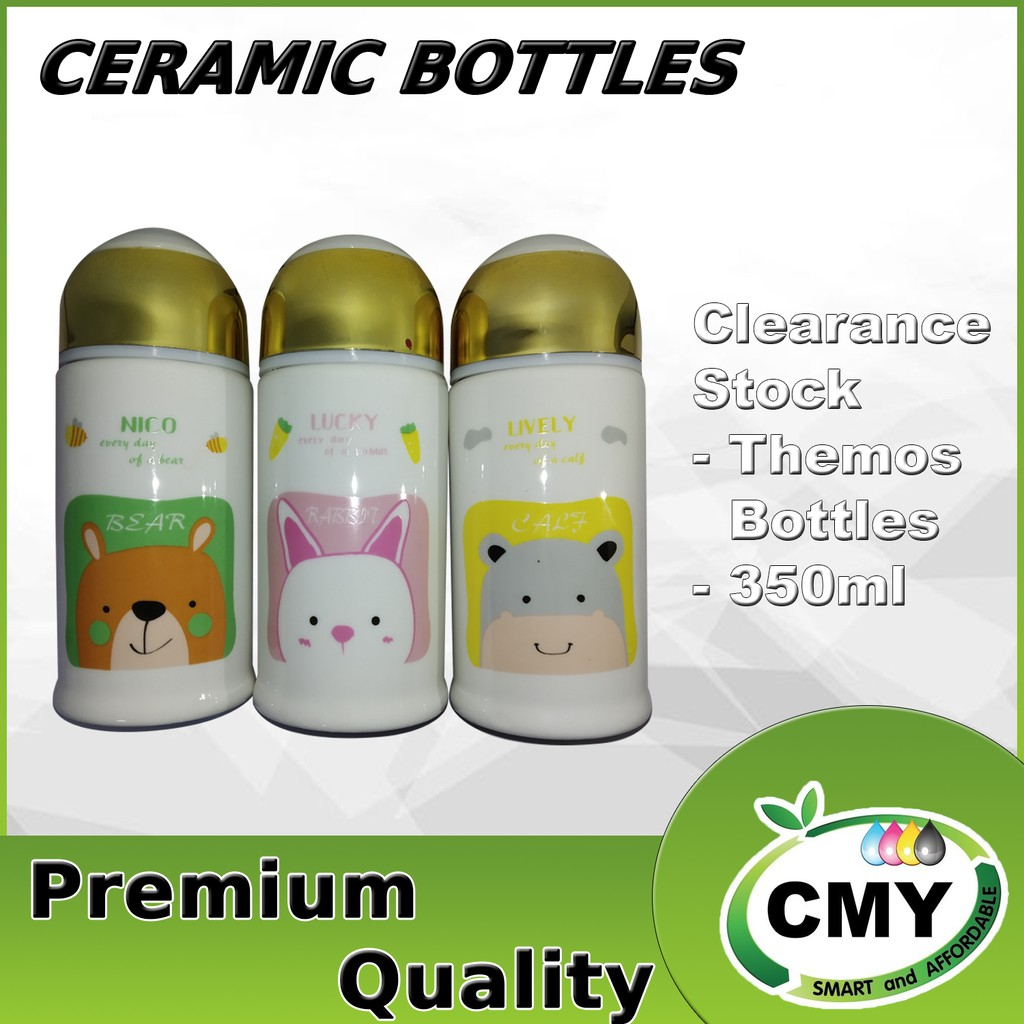 Animal Design Thermos Cup Ceramic Bottle Vacuum Flasks Thermoses