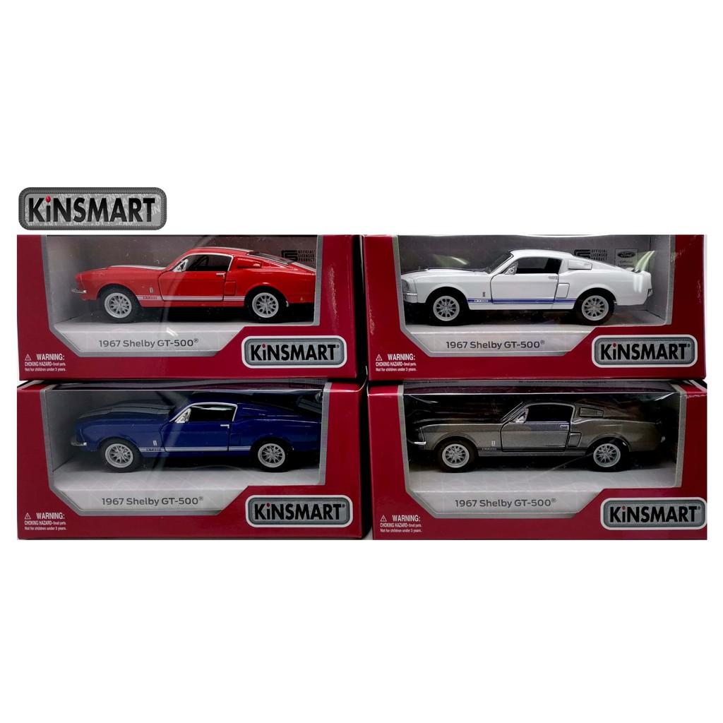 KINSMART 1:32 - 1:36 METAL DIE CAST 1967 SHELBY GT-500 CAR MODEL COLLECTION KT5372W