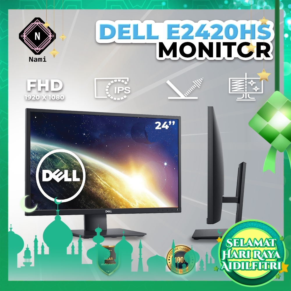 """Dell 24"""" Monitor IPS Full HD LED Backlit LCD Monitor 24-inch 60Hz E2420HS"""