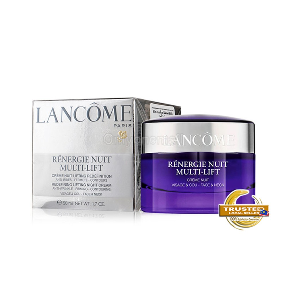 LANCOME Rénergie Multi-Lift Rederining Lifting Night Cream 50ml (With Free Gift)
