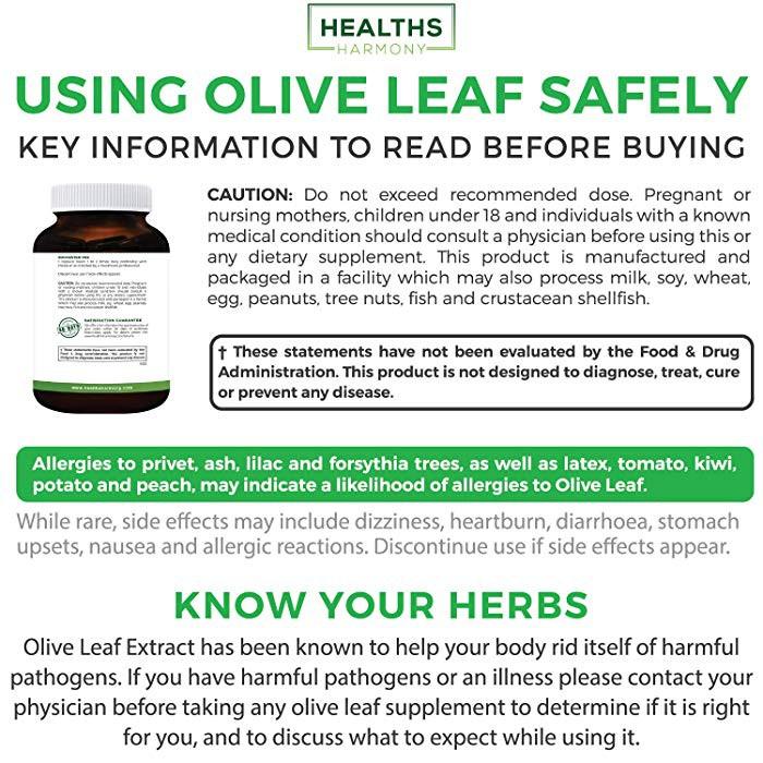 Healths Harmony Olive Leaf Extract (NON-GMO) Oleuropein