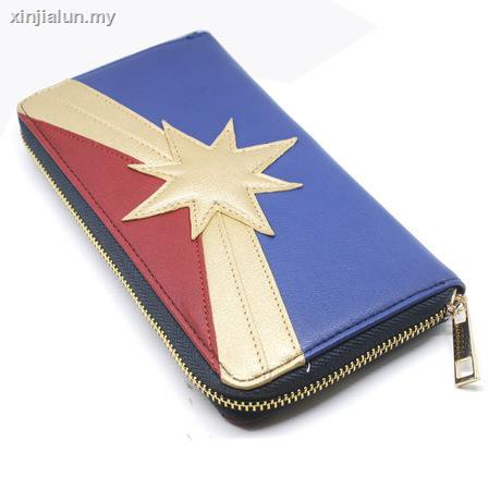Anime Peripheral Captain Marvel Long Wallet Dragonball Tortoise One Word Die Shi Fashionable Grab Bag Zipper Shopee Malaysia