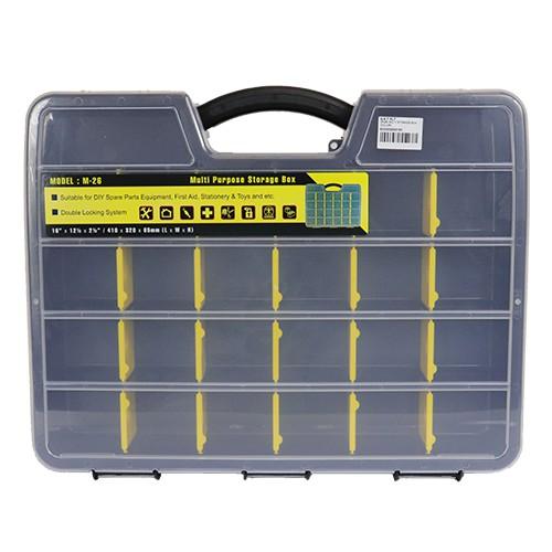 Multi Storage Box (M-26) Handyman Carpenter Mechanic Multipurpose Heavy Duty Durable Tool Professional Organizer