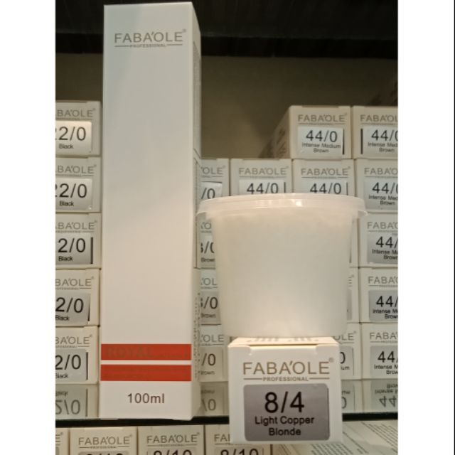 Fabaole color (Ligth Copper Blonde.8/4) 100ml foc peroxide cream 100ml(Ligth Copper Blonde.8/4)