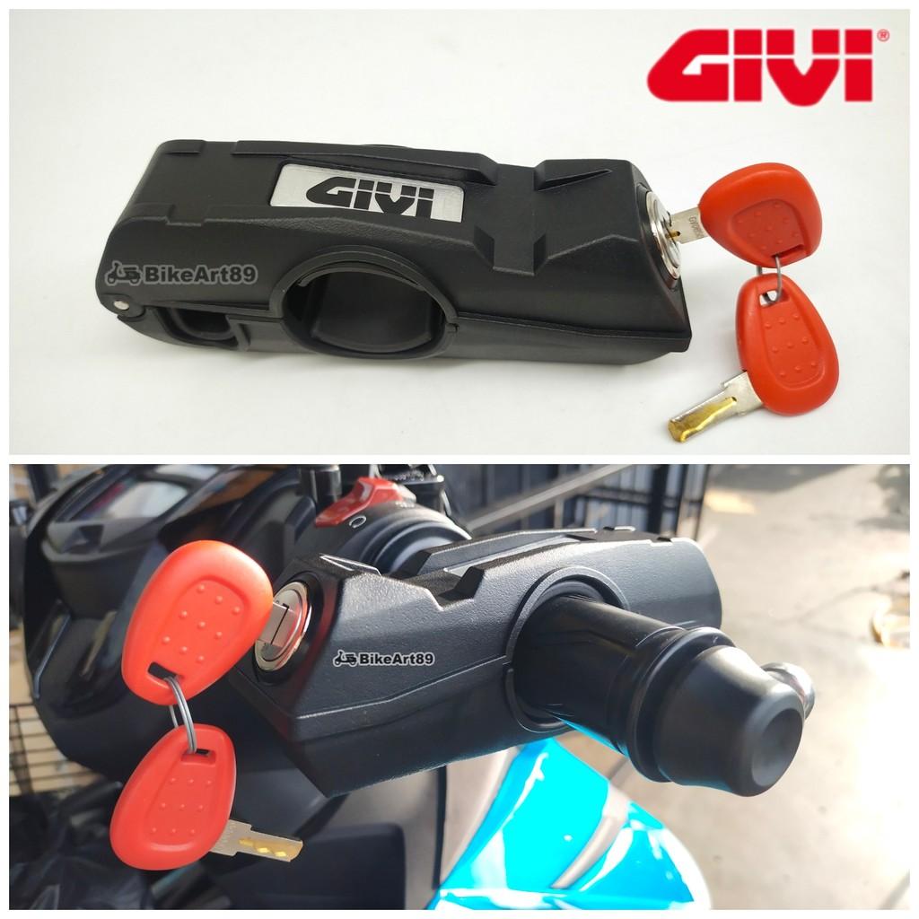 GIVI Grip Lock TL12 Black Brake Lever Lock Handlebar Lock Grip Brake Lever Throttle Security Lock