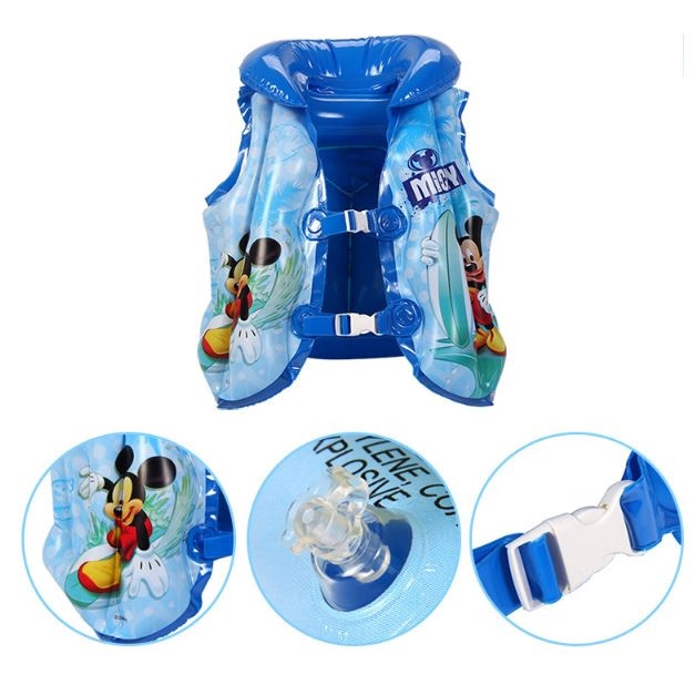 Disney Child Swimming Vest Inflatable Water Sports Pool Float Children Kid Swimming Drifting Boating Jacket