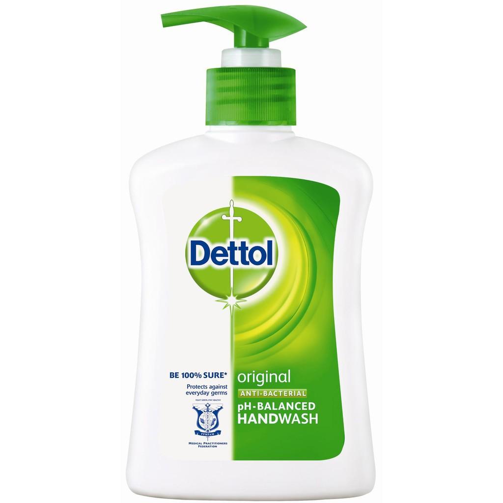 Dettol Hand Wash Soap 250ml Original Anti-Bacterial Disinfectant
