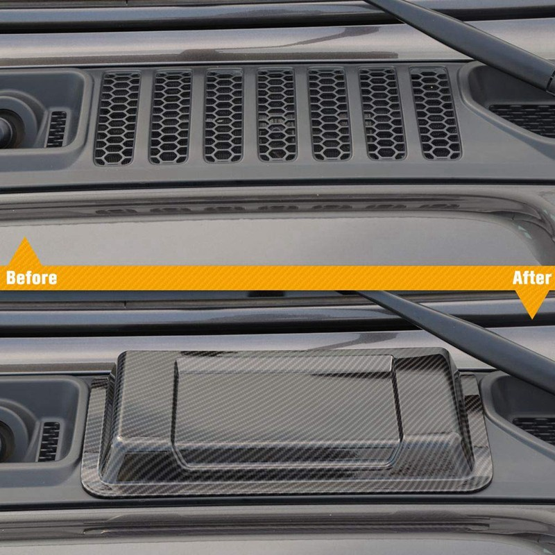 2* Carbon Fiber Look Side Air Vent Intake Cover For Jeep Wrangler JL 2018-2019