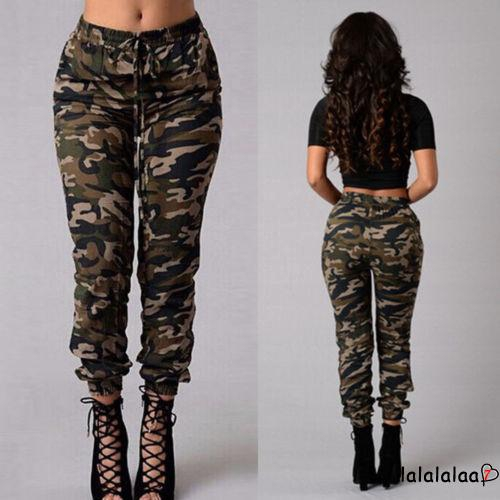 WOMENS CAMOUFLAGE TROUSERS JOGGING BOTTOMS GIRLS LADIES TRACKSUIT PANTS S-2XL