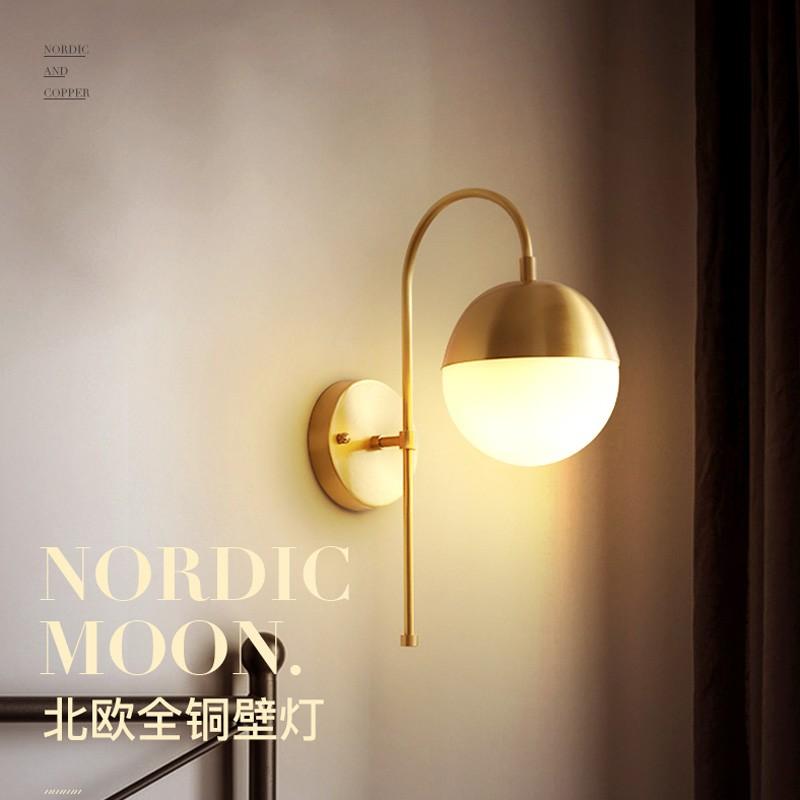Nordic New Modern Minimalist Style Living Room Bedroom Corridor Brass Wall Lamp Model Room Creative Wall L Shopee Malaysia