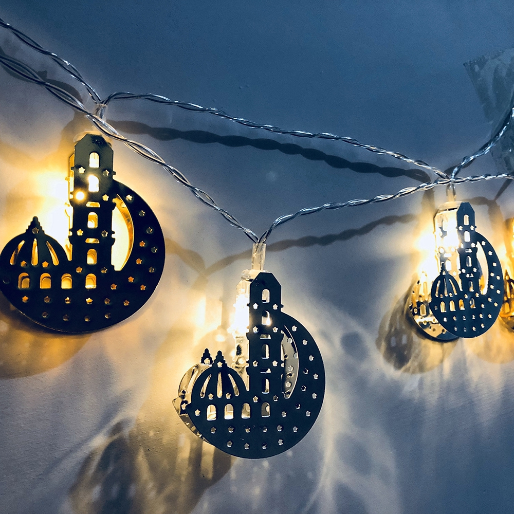Muslim LED Moon Castle Light String Ramadan Courtyard Party Home Decor
