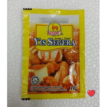 Kijang Yis Segera / Instant Yeast 11g ( Free Fragile + Bubblewrap Packing )