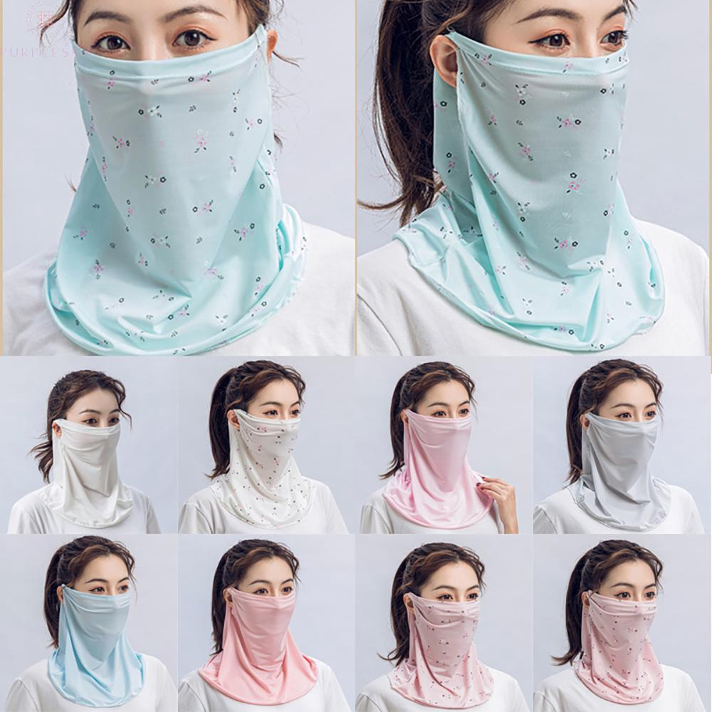New Face Mouth Cover Outdoor Scarf UV Protection Shawl Veil Hearwear For Ladies