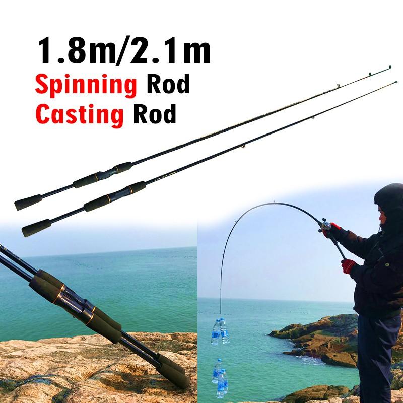 Casting Fishing Rod 1.8M  2.1M  Pole Pesca Tackle Power Baitcasting Carbon Lure