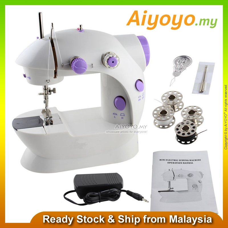 Mini Portable Handheld Sewing Machine Double Speed Threads Foot Pedal