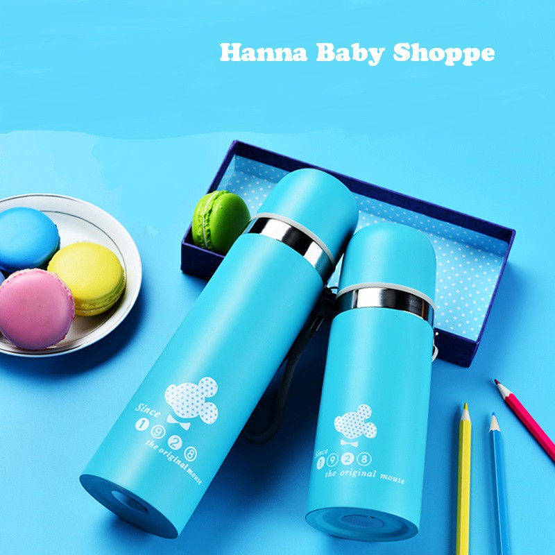 Mickey Mouse Vacuum Thermos Flask Bottles Thermal Tahan Panas 500ml