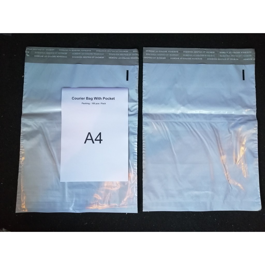 ( Ready Stock ) A4 Size Courier Bag / Flyer Bag / Parcel Bag With Pocket Design x 100 pcs