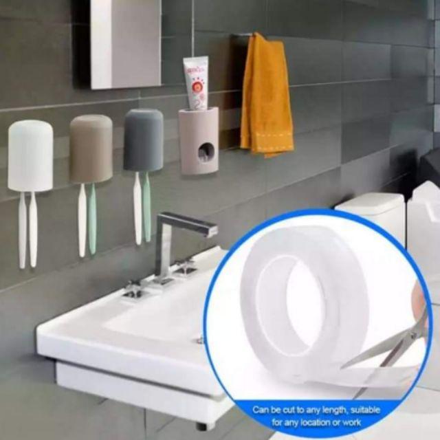 MALAYSIA] PITA PELEKAT Tape Double Sided Traceless Washable Gel Nano Reusable Anti Slip