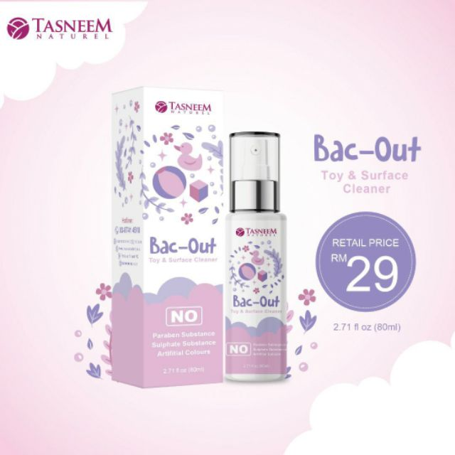 TASNEEM NATUREL BAC OUT TOY AND SURFACE CLEANER