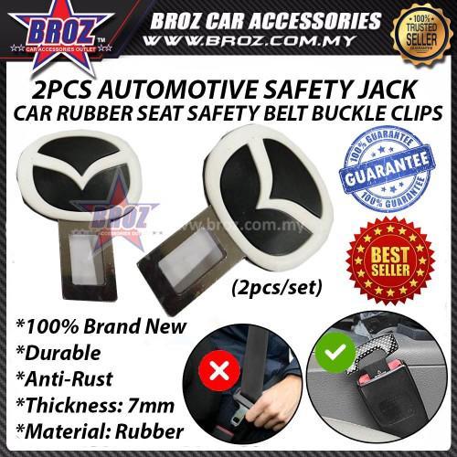 Hyundai Black Red ABS Rubber Car Seat Belt Buckle Clip - 2pcs