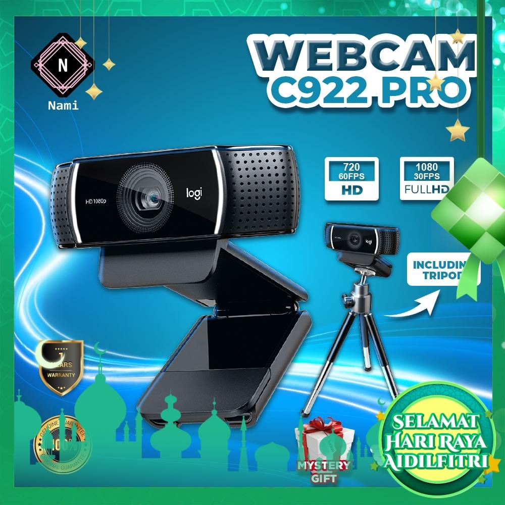 Logitech C922 Pro Stream Webcam with Tripod (EXTRA Protection + Fragile Sticker)