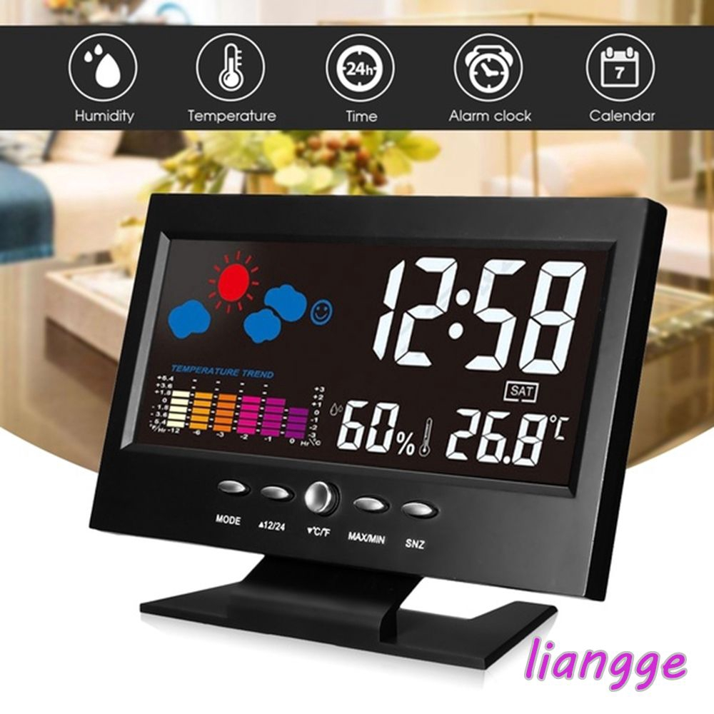 8082T Voice Activated Digital Weather Station Thermometer Hygrometer Alarm Clock