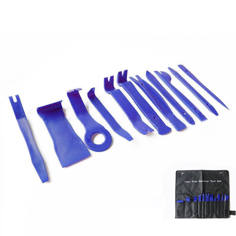 11Pcs Plastic Universal Panel Removal Open Pry Car Accessories Tools Trim Kit