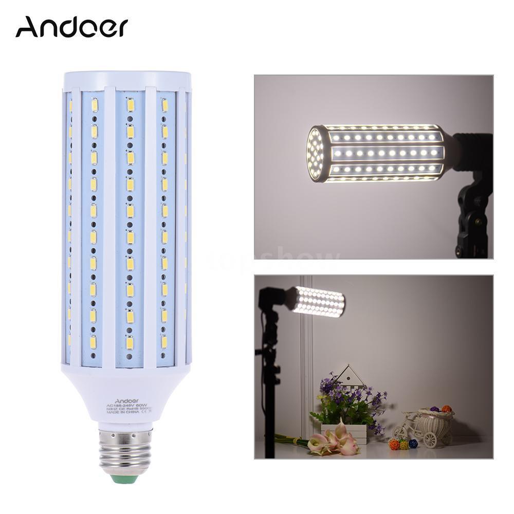 Tsm Andoer Photo Studio Photography 5500K 60W 120 Beads LED Corn Lamp Light Bulb Daylight E27 Socket
