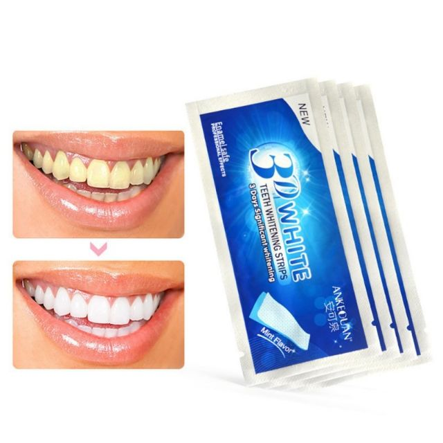 3D White Gel Teeth Whitening Strips Oral Hygiene Care