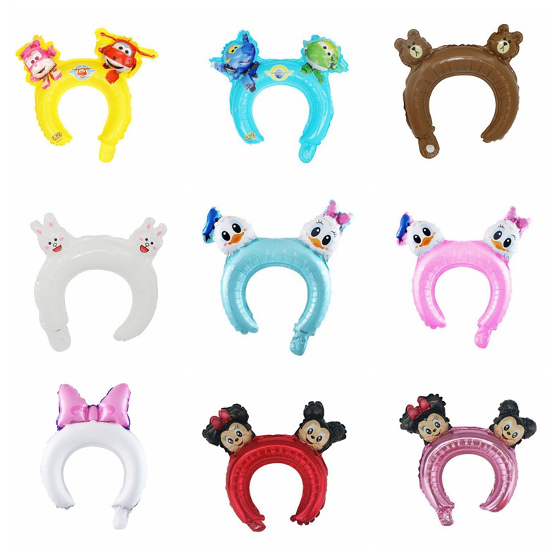 Kids Party Decoration Cute Cartoon Animals Balloon Hair Hoop Free Size Headband Shopee Malaysia