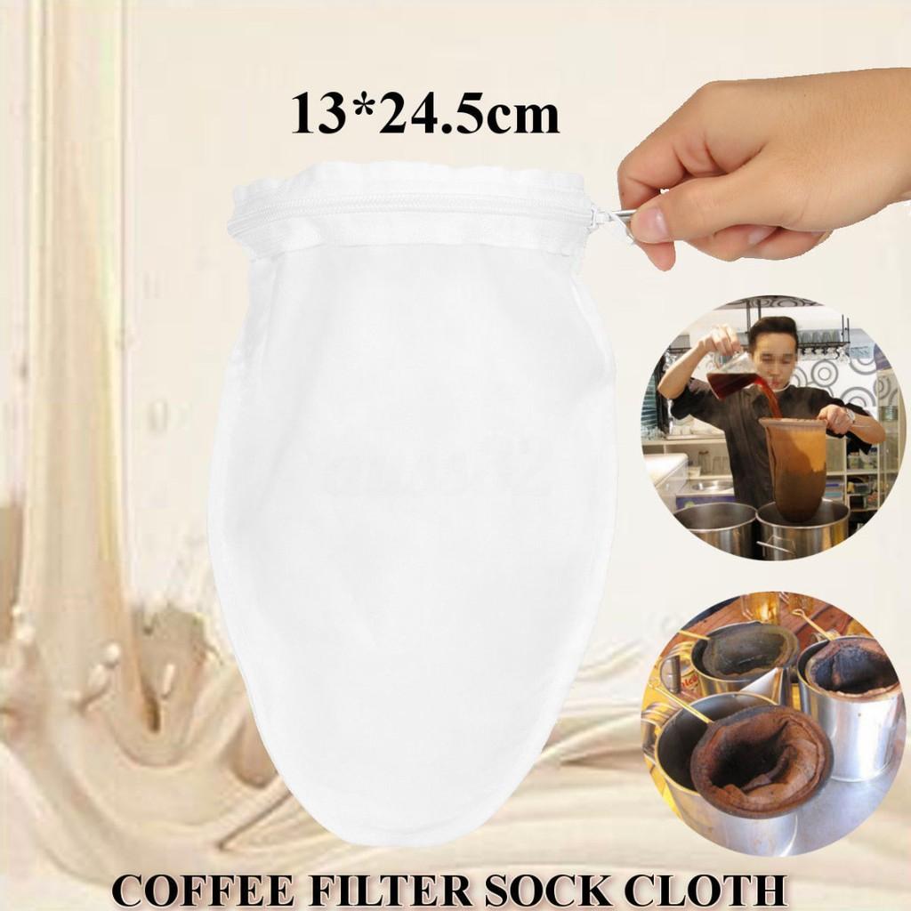 "Cloth Filter Sock Tea Coffee Traditional Thai 3/"""