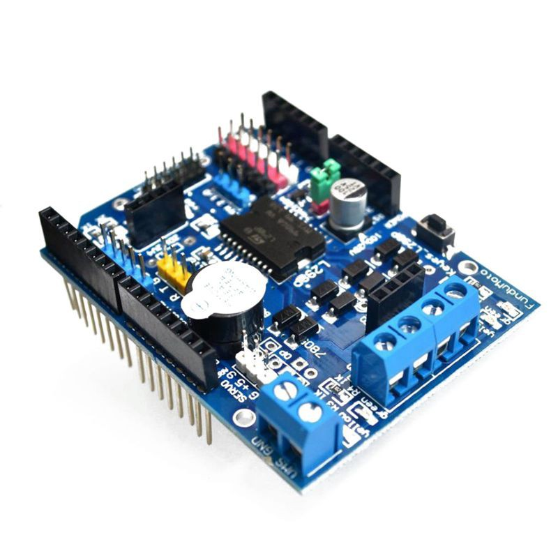 L298P Motor Driver Module H-bridge Drive Shield Expansion Board High-Power  DC Stepper Motor Controller For Arduino XD