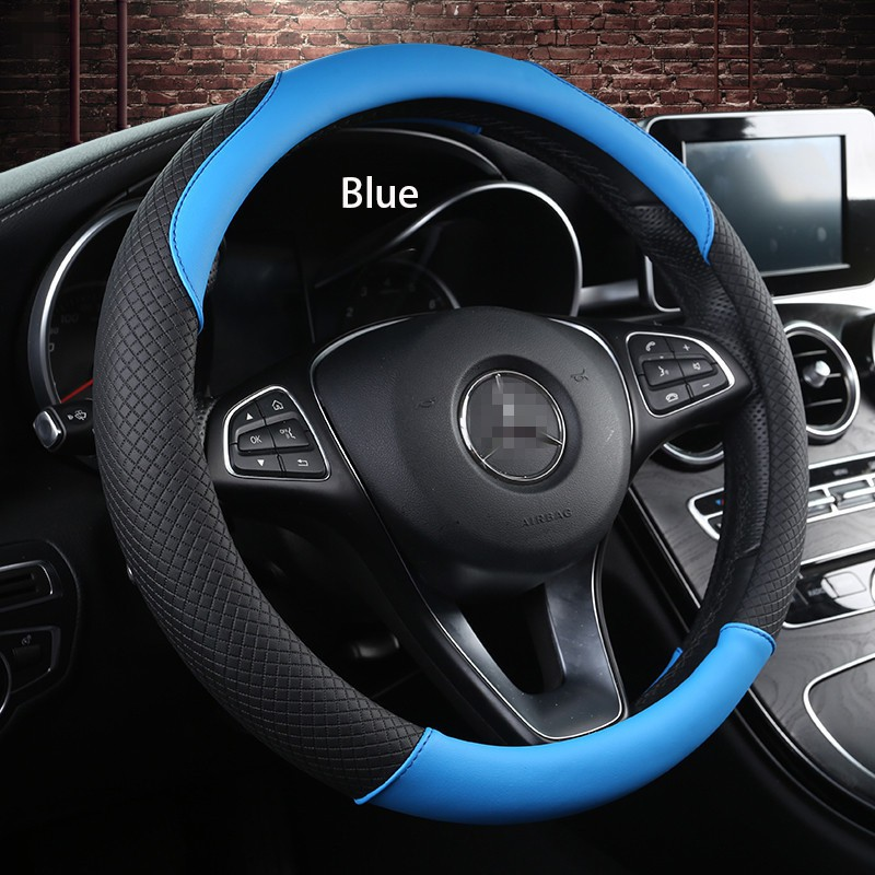 e9187a6bbbf9 Car Steering Wheel Cover PU Leather Steering Wheel Cover Auto Parts Car  Interior